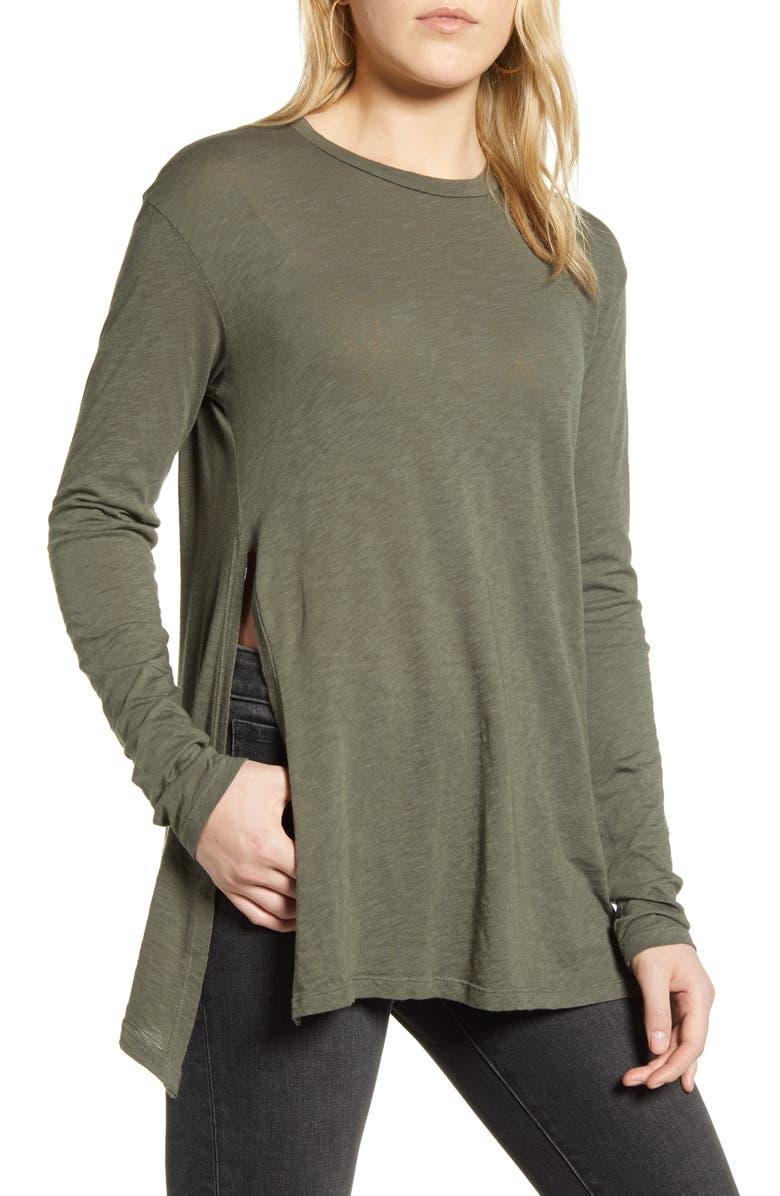 STATESIDE Side Slit T-Shirt, Main, color, 301