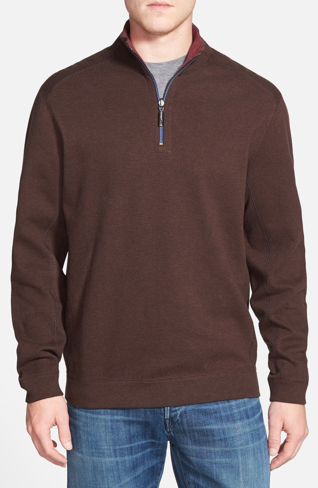 ,                             'Flip Side' Reversible Quarter Zip Pullover,                             Main thumbnail 37, color,                             202