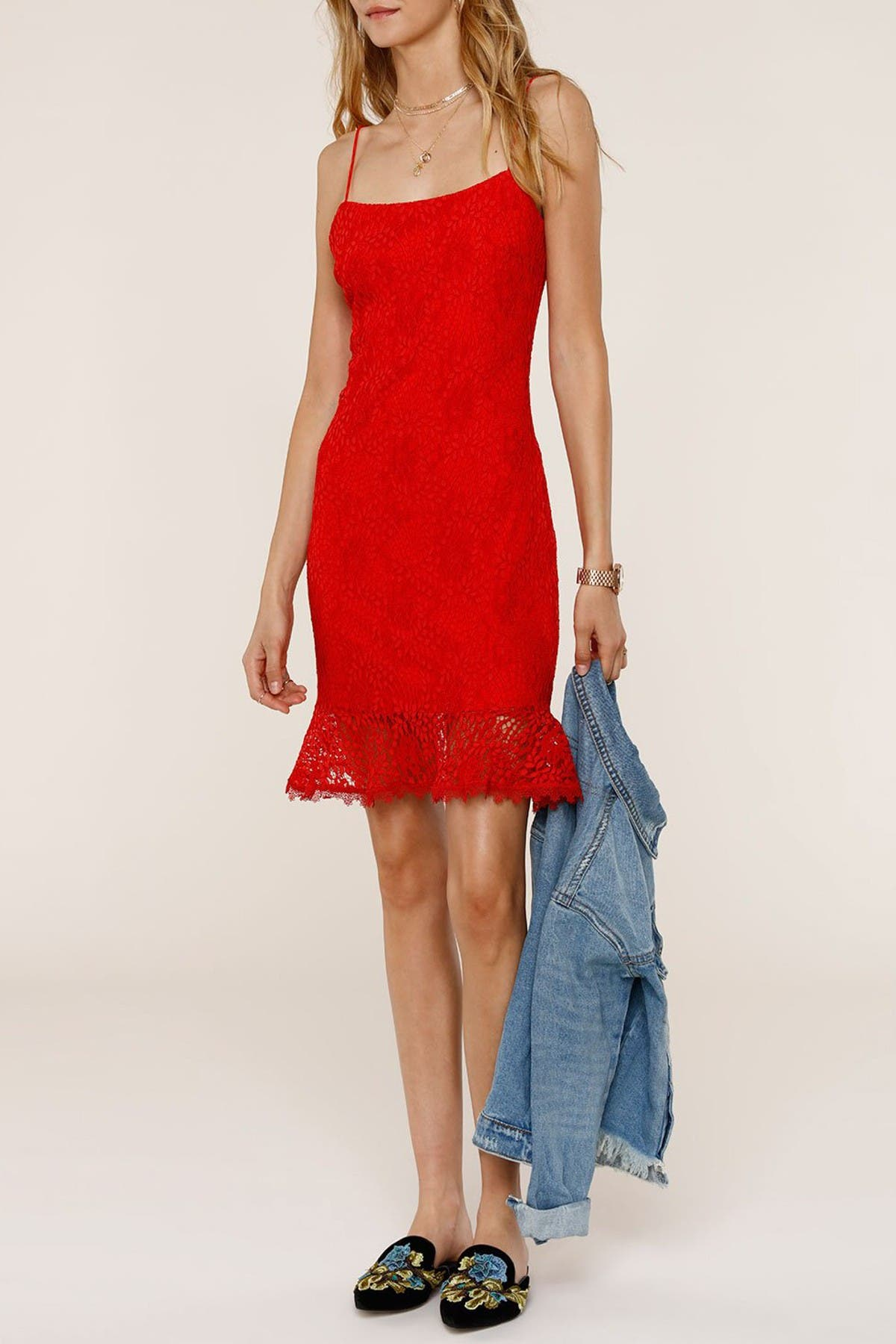 Image of Heartloom Nessa Ruffle Hem Lace Dress