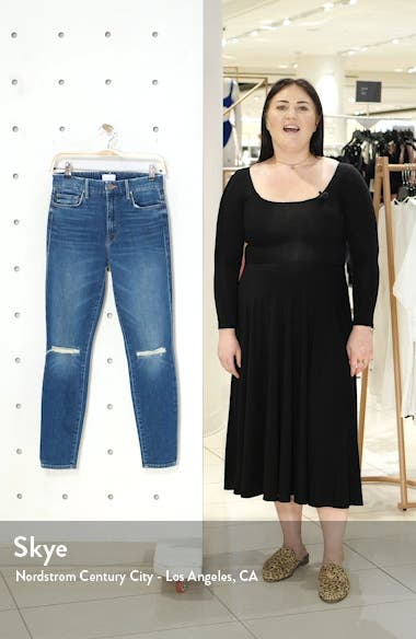 The Looker Ripped High Waist Ankle Skinny Jeans, sales video thumbnail