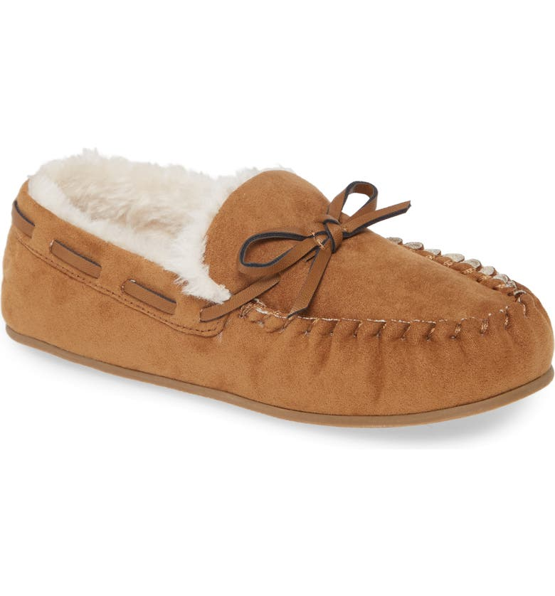 1901 Faux Fur Lined Moccasin Slipper, Main, color, 238
