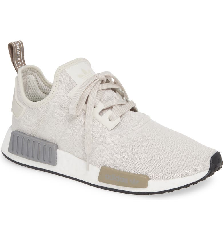 ADIDAS NMD R1 Athletic Shoe, Main, color, RAW WHITE/ RAW WHITE/ BLACK