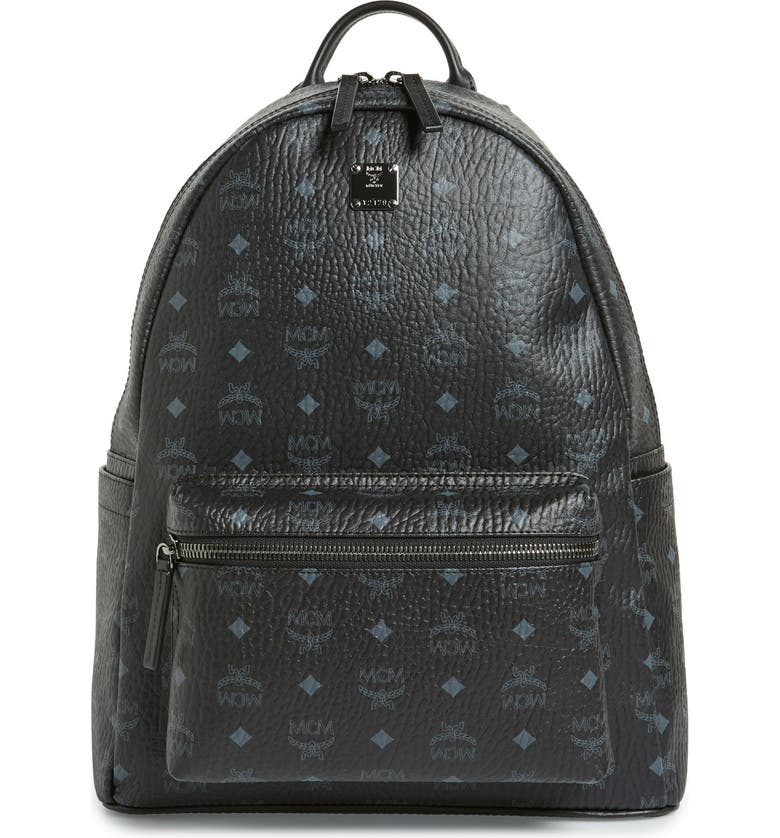 MCM Medium Stark Visetos Backpack, Main, color, 001