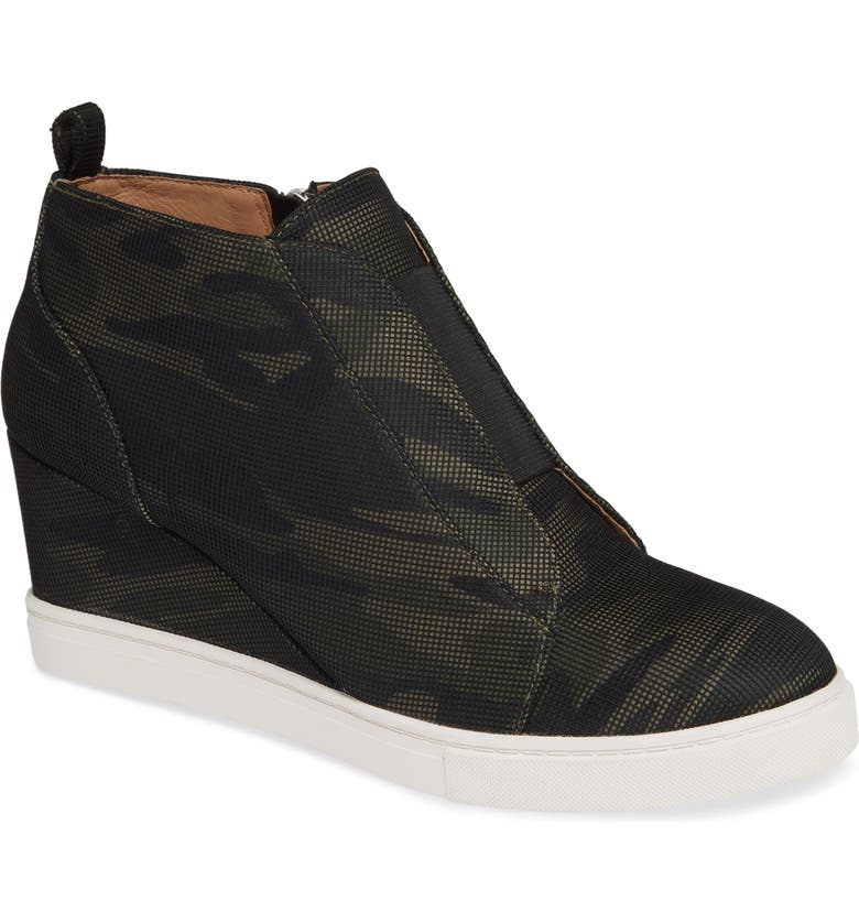 LINEA PAOLO Felicia Wedge Bootie, Main, color, CAMO FABRIC