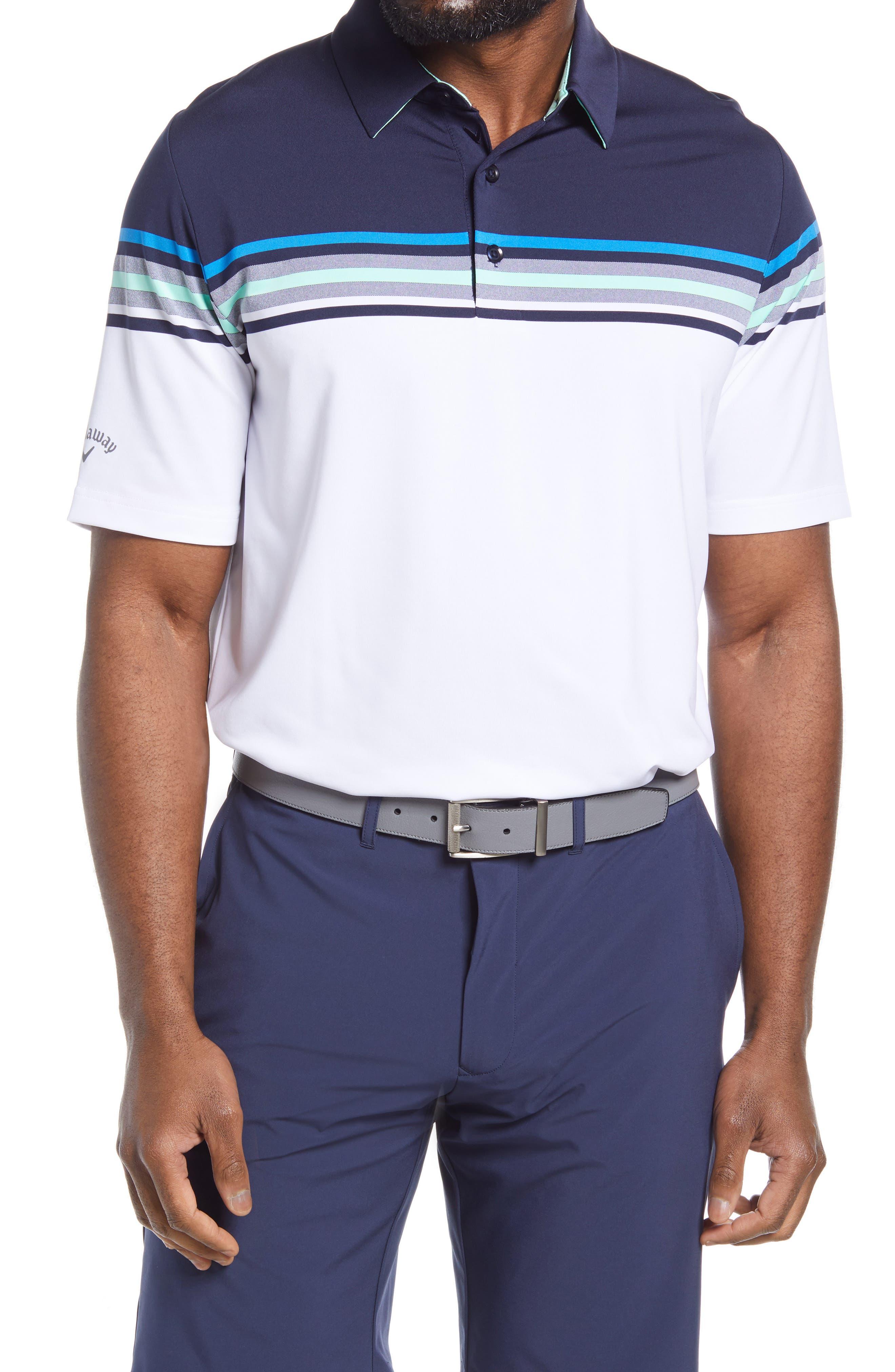 Men's Callaway Golf Swing Tech(TM) Chest Stripe Performance Golf Polo