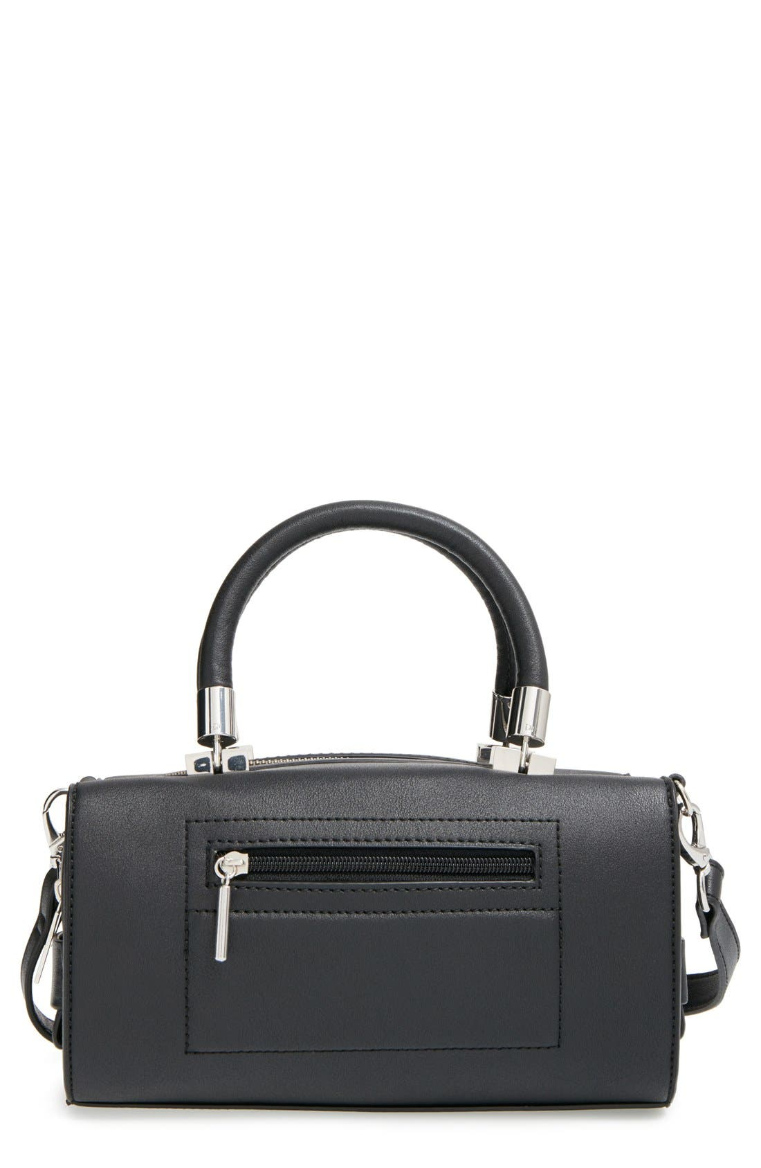 'Whitney' Faux Leather Crossbody Bag, Main, color, 001