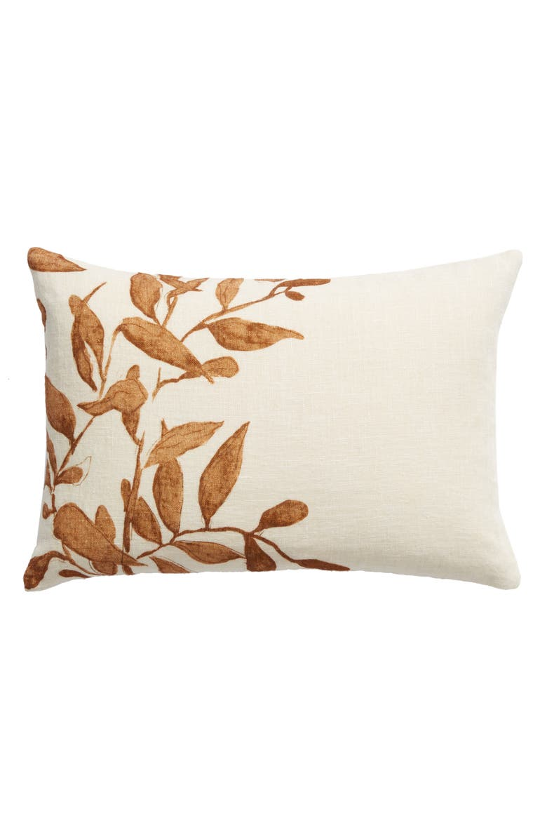 TREASURE & BOND Vine Accent Pillow, Main, color, BROWN RUSTIC MULTI