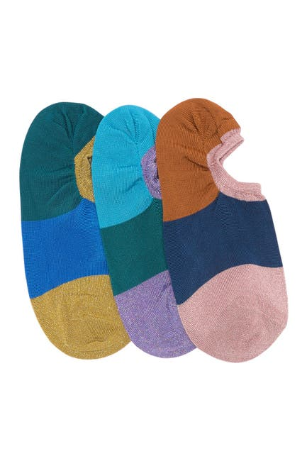 Image of Hysteria by Happy Socks Issa No Show Socks - Pack of 3