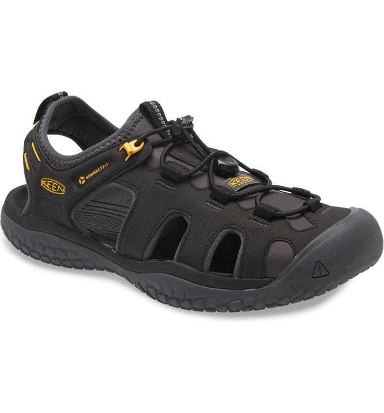 KEEN Solar Sandal, Main, color, BLACK/ GOLD