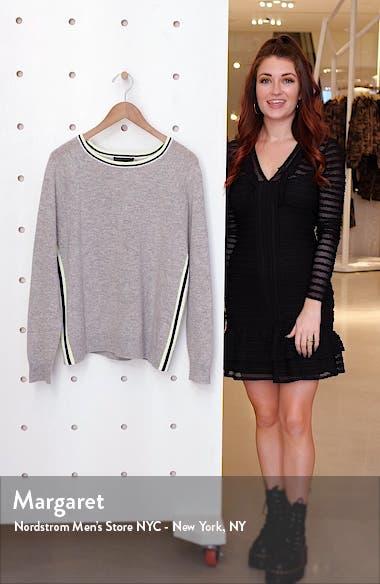 Moira Side Stripe Cashmere Blend Sweater, sales video thumbnail