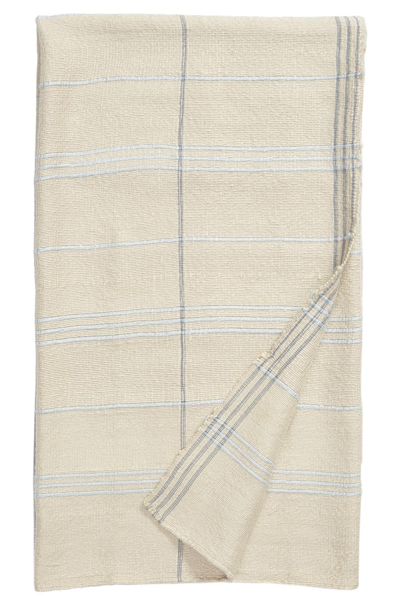 TREASURE & BOND Grid Woven Throw Blanket, Main, color, 050