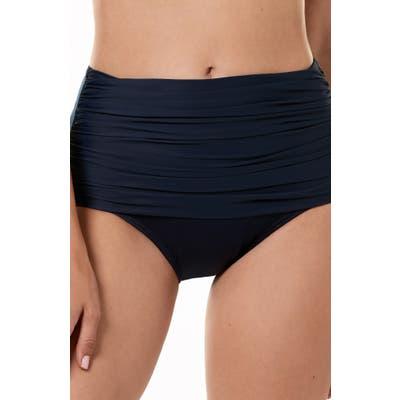 Miraclesuit Norma Jean High Waist Bikini Bottoms, Blue