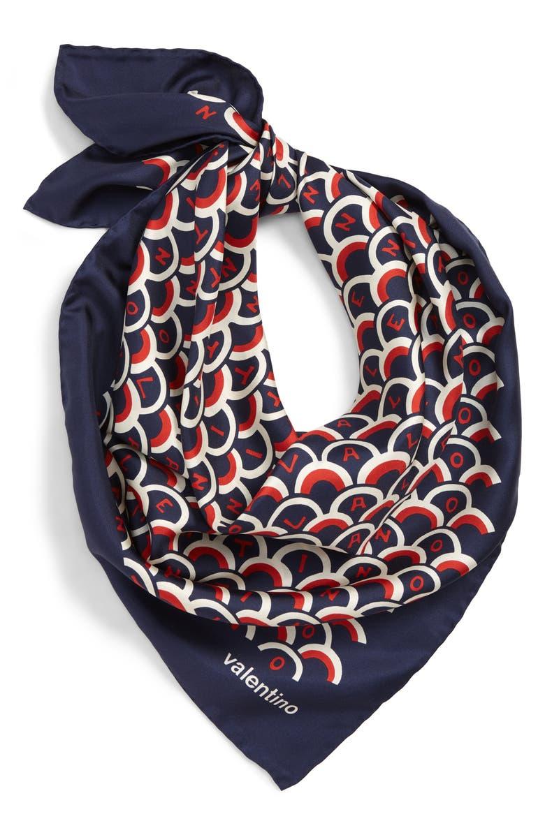 VALENTINO Garavani Scale Silk Scarf, Main, color, 400