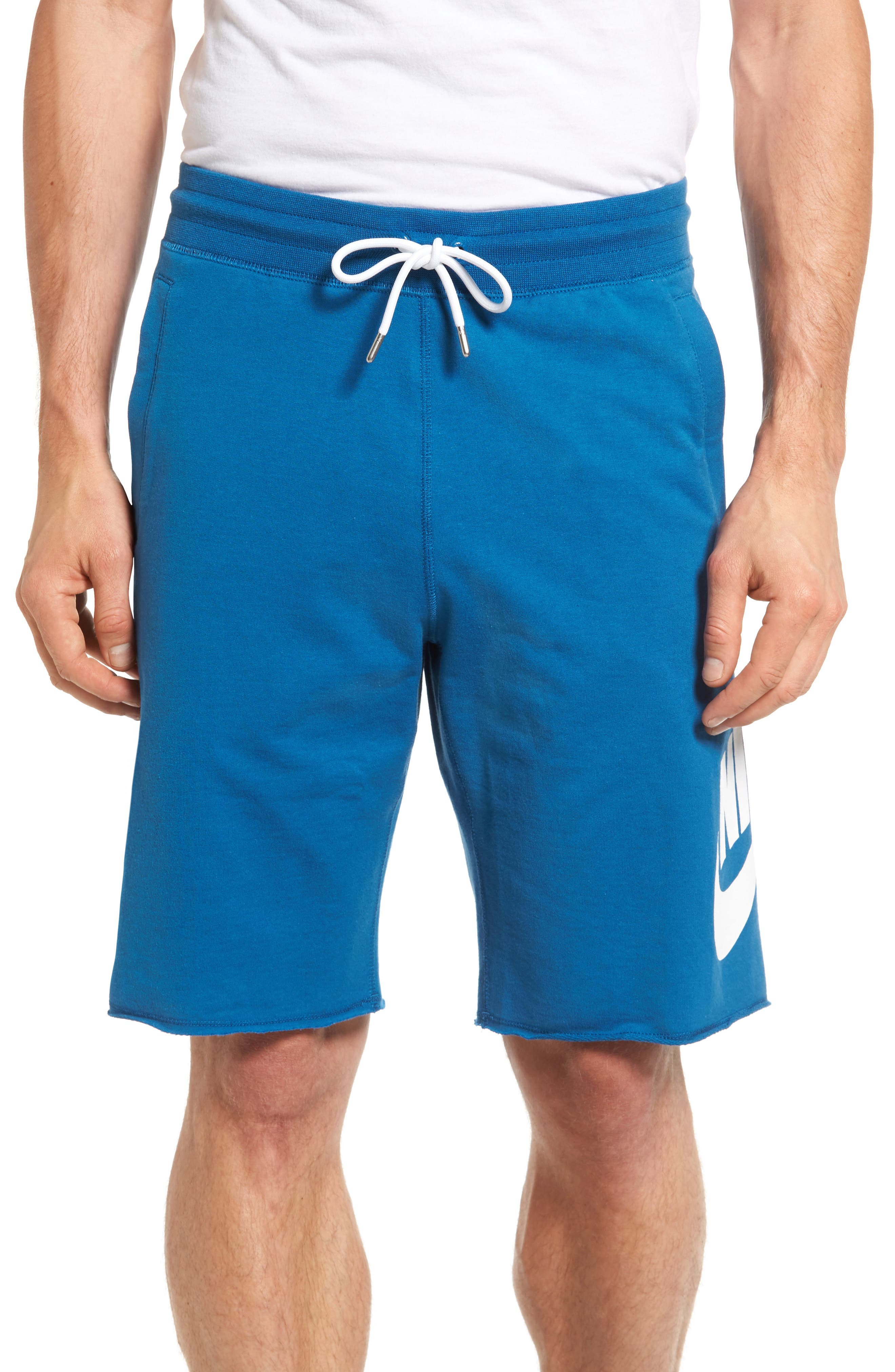 ,                             'NSW' Logo French Terry Shorts,                             Main thumbnail 24, color,                             457