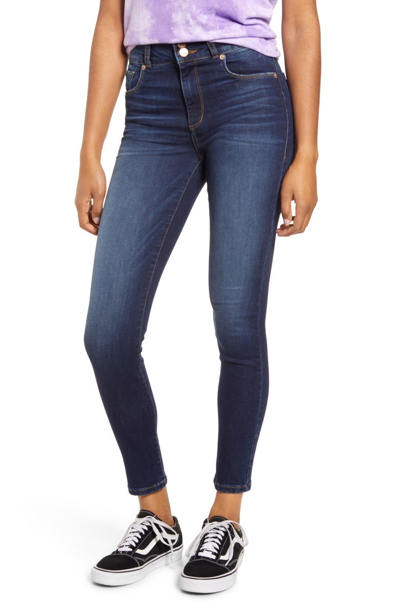 STS BLUE Brie Double Button High Waist Ankle Skinny Jeans, Main, color, CORWIN