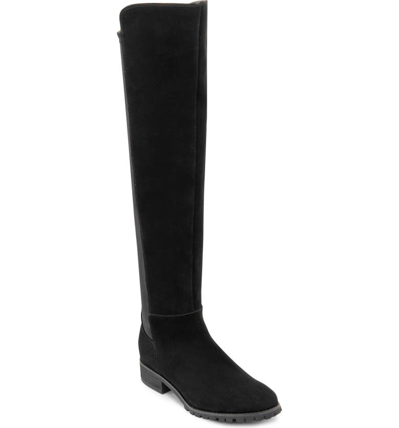 BLONDO Presto Waterproof Knee High Boot, Main, color, BLACK SUEDE