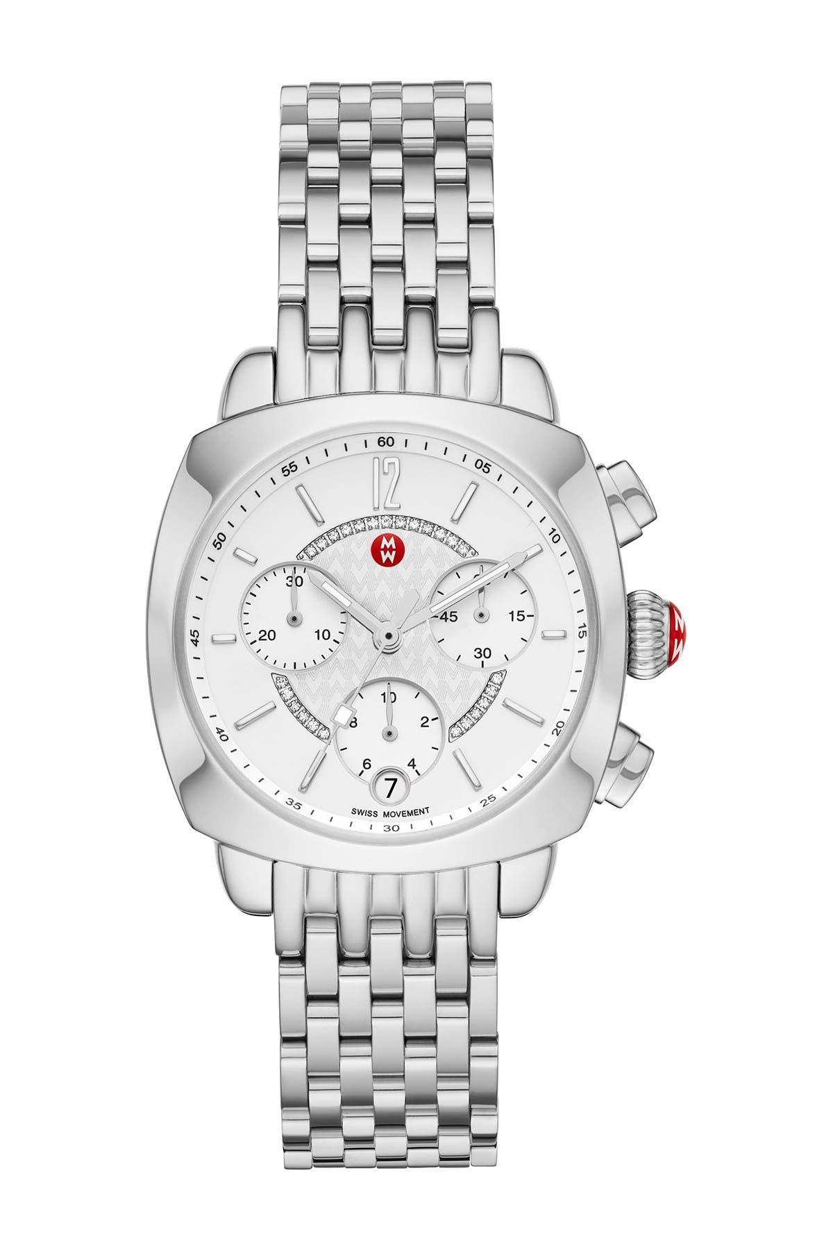 Image of Michele Women's Ascalon Diamond Bracelet Watch, 34mm x 41mm - 0.05 ctw