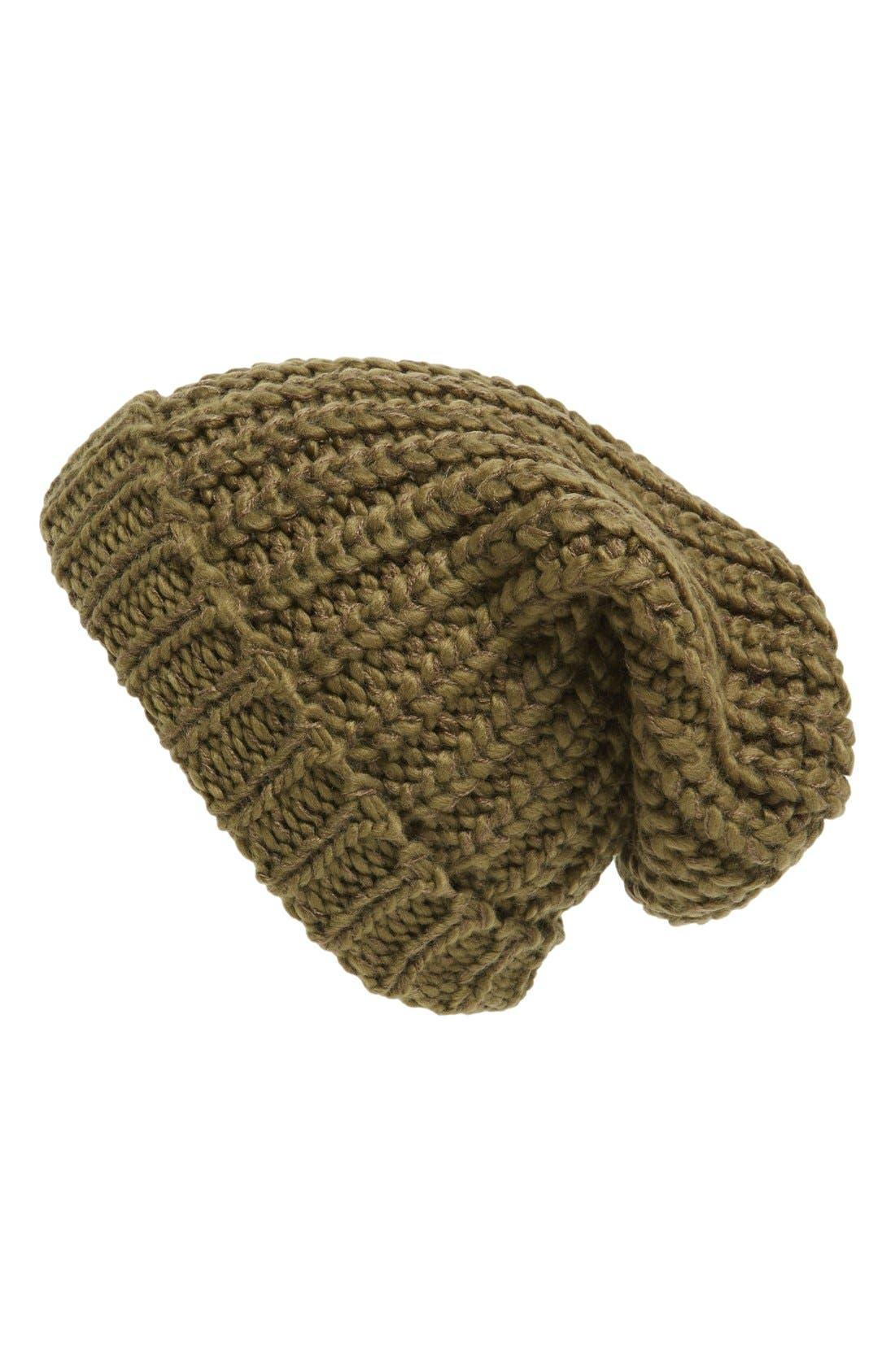 ,                             Chunky Rib Knit Beanie,                             Main thumbnail 9, color,                             300
