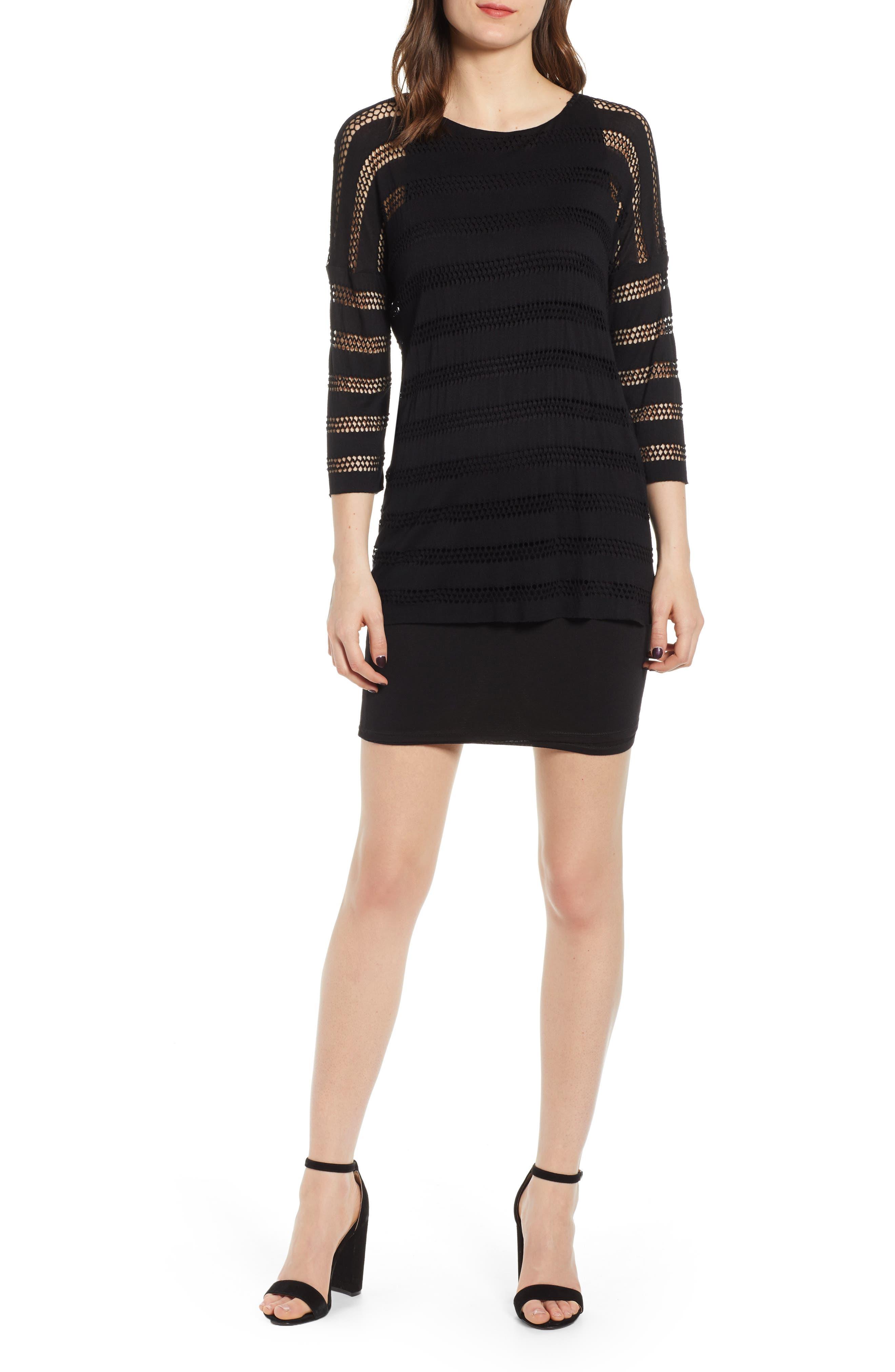 Bailey 44 Seeing Double Stripe Sheath Dress, Black