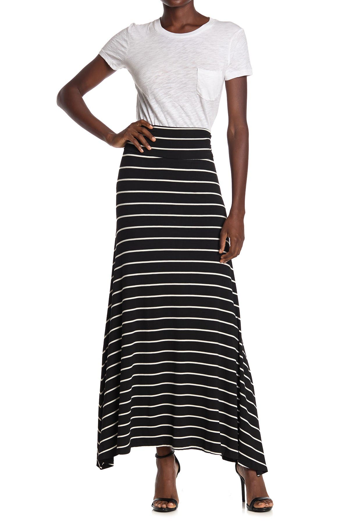 Image of Bobeau Side Slit Knit Maxi Skirt