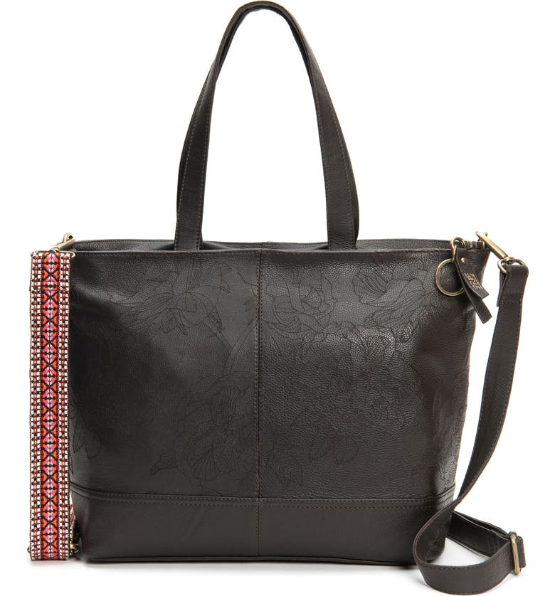 FRYE AND CO Piper Leather Tote, Main, color, CHOCOLATE