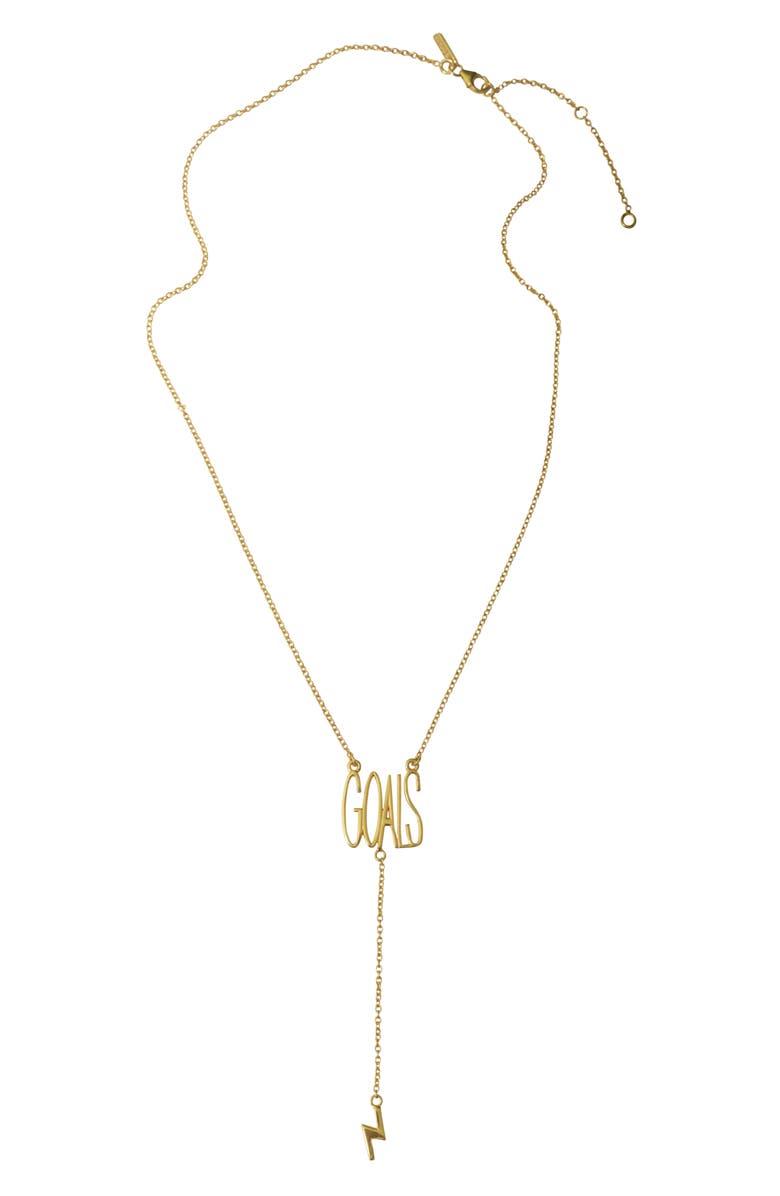 ADORNIA Goals Y-Necklace, Main, color, METALLIC GOLD