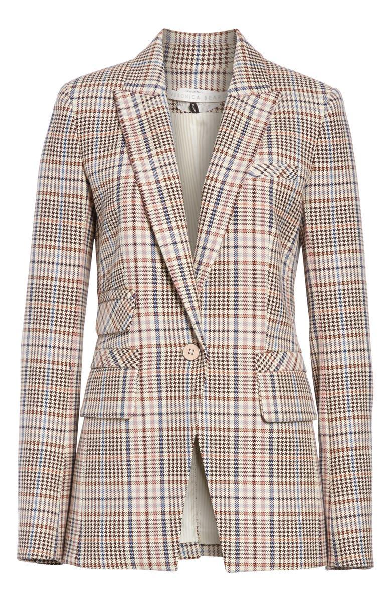VERONICA BEARD Fuller Houndstooth Dickey Jacket, Main, color, 900