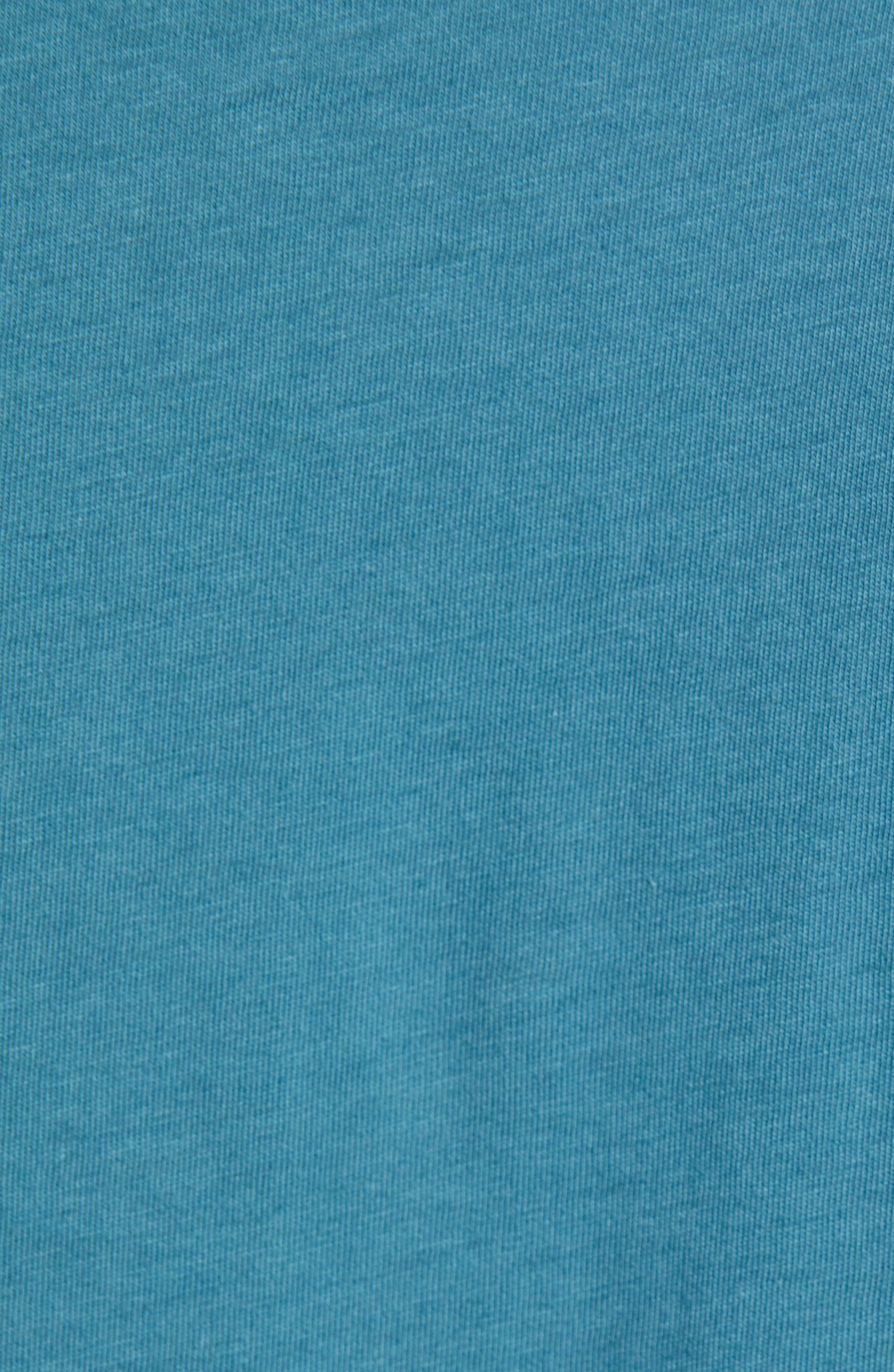 ,                             Fitz Roy Bear Crewneck T-Shirt,                             Alternate thumbnail 5, color,                             TASMANIAN TEAL