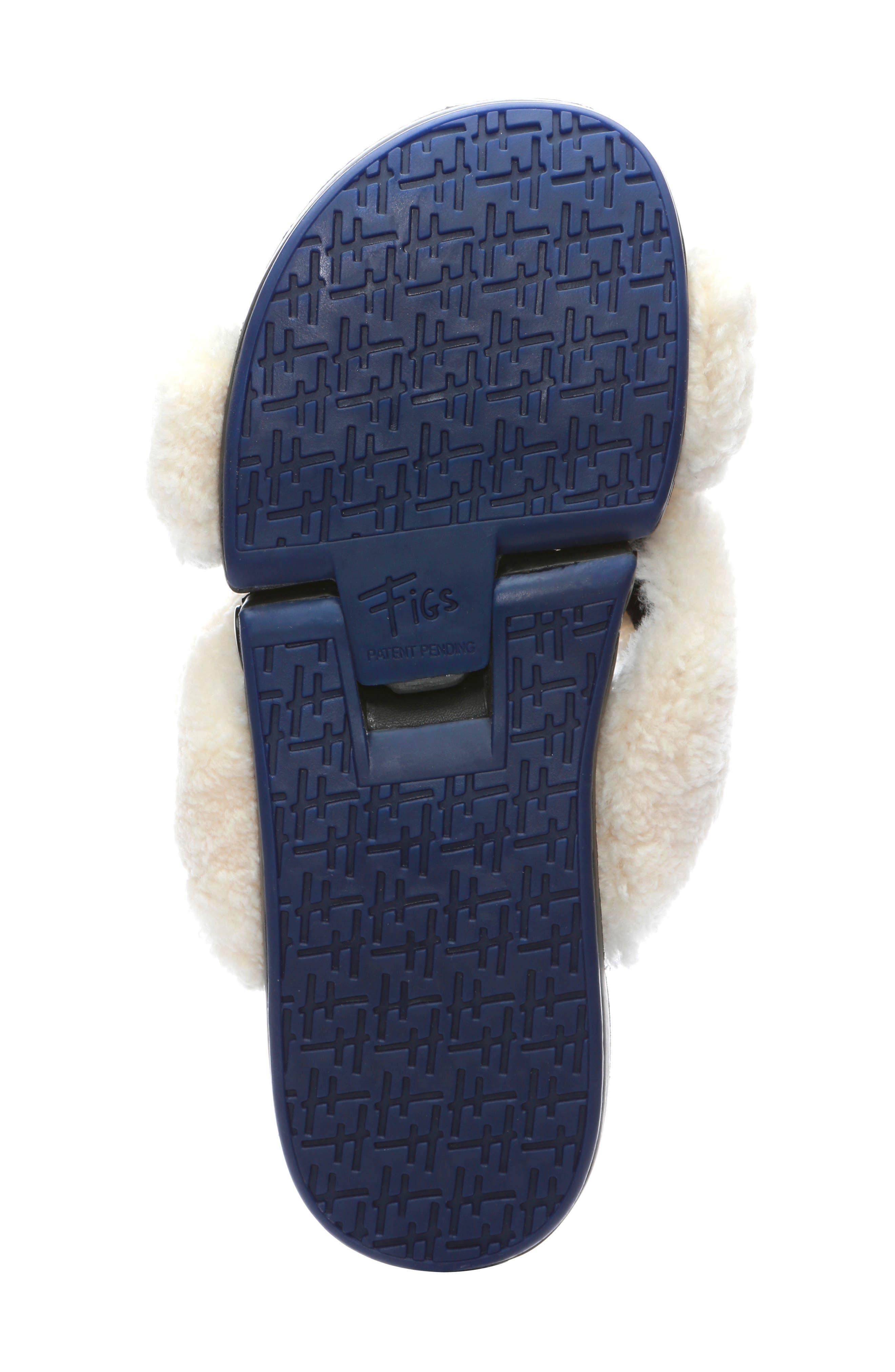 ,                             Figomatic Genuine Shearling Slide Sandal,                             Alternate thumbnail 6, color,                             NUDE SHEARLING