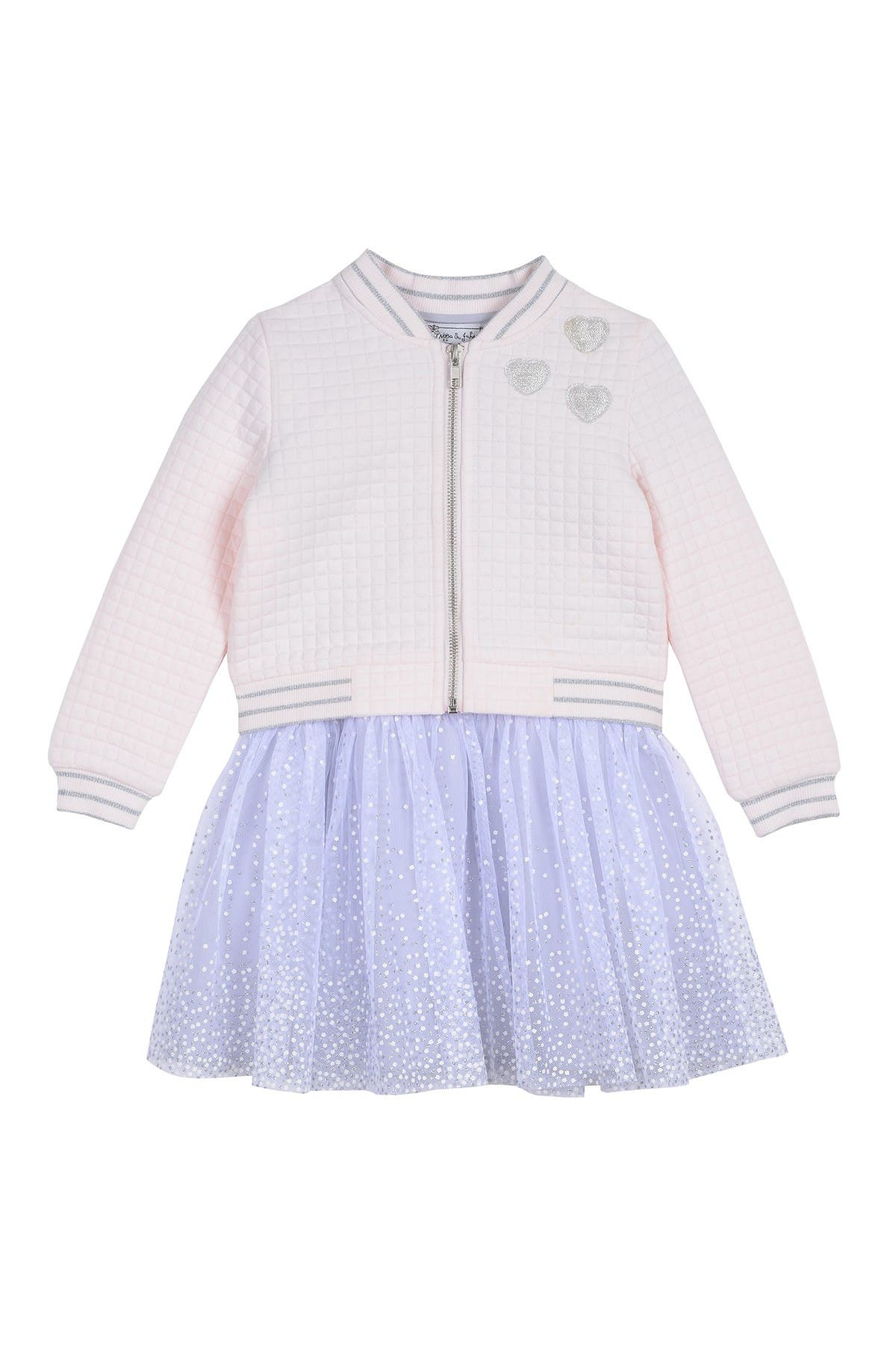 Image of Pippa & Julie Quilted Bomber Jacket & Dress 2-Piece Set