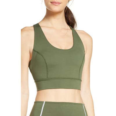 Free People Fp Movement Lightning Synergy Sports Bra, Green