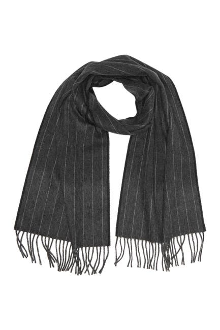 Image of Hickey Freeman Cashmere Striped Scarf
