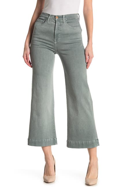 Image of NSF CLOTHING Katia Wide Leg Mid Rise Jeans