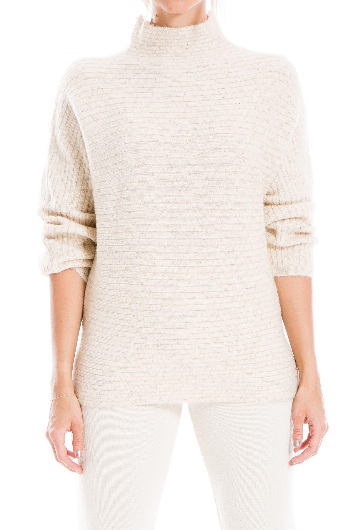 Image of Max Studio Marled Mock Neck Sweater