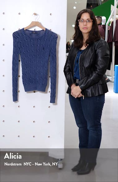 Juliana Cable Knit Cotton Sweater, sales video thumbnail