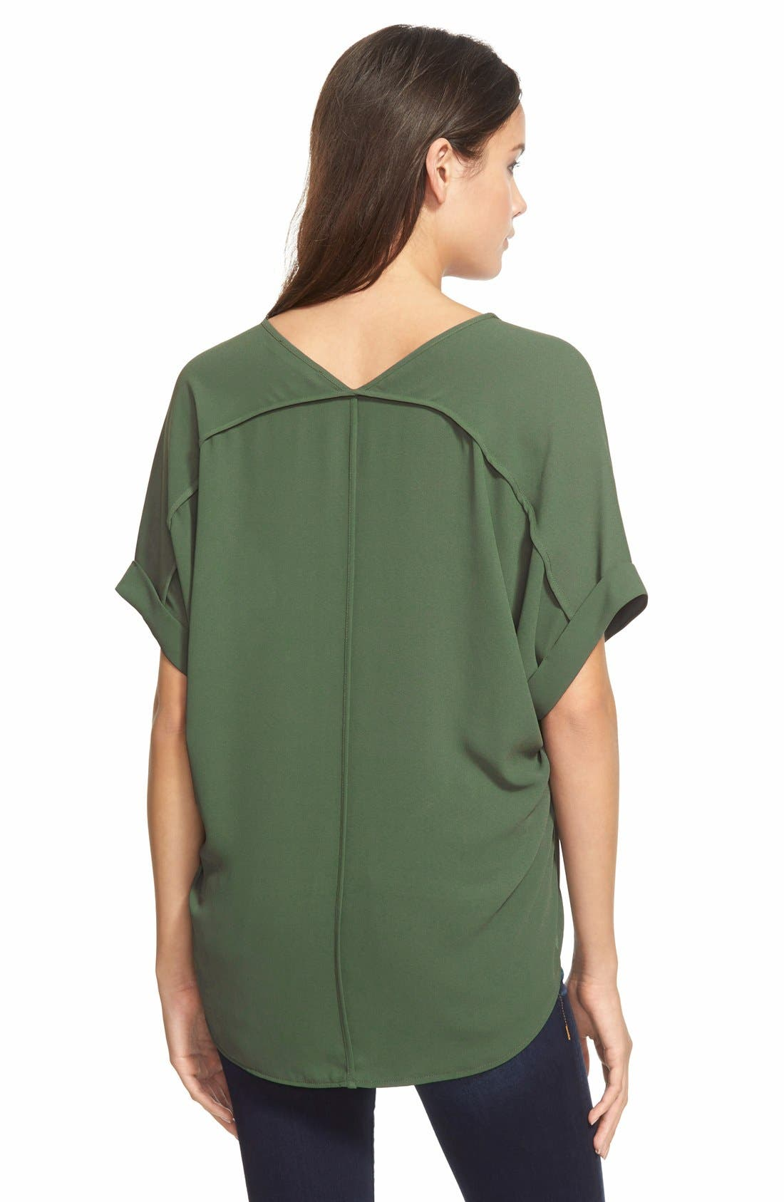 ,                             Lush Cuff Sleeve Woven Tee,                             Alternate thumbnail 62, color,                             310