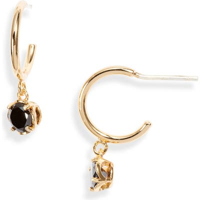 Kate Spade New York Mini Stone Huggie Hoop Earrings