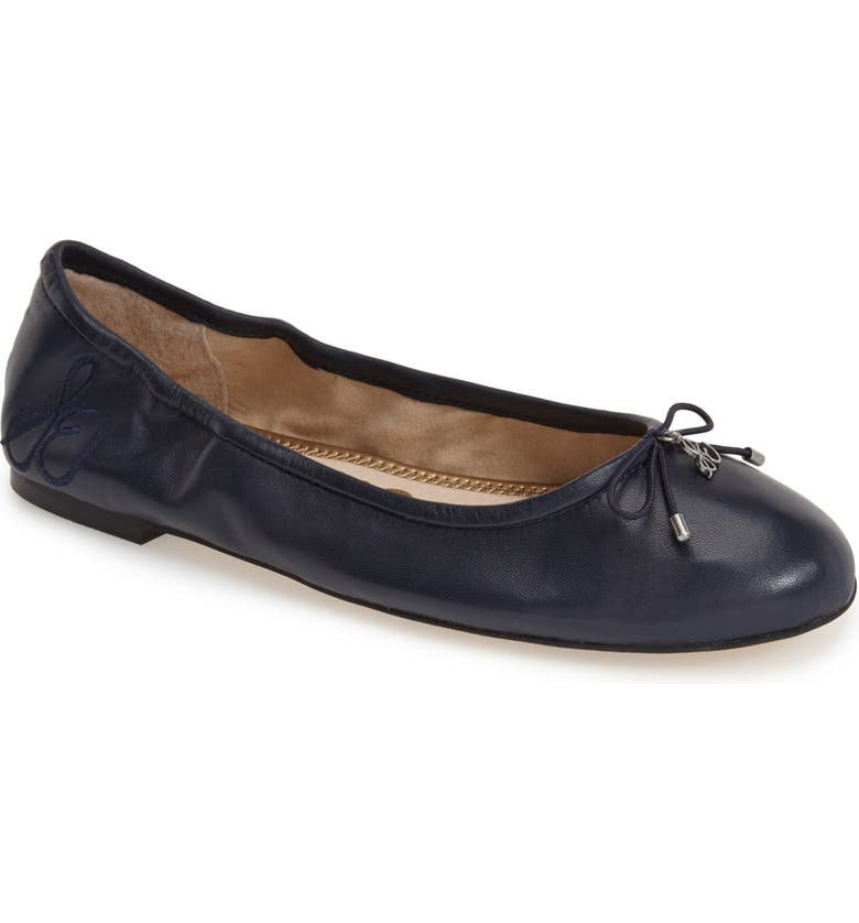 SAM EDELMAN Felicia Flat, Main, color, NAVY LEATHER