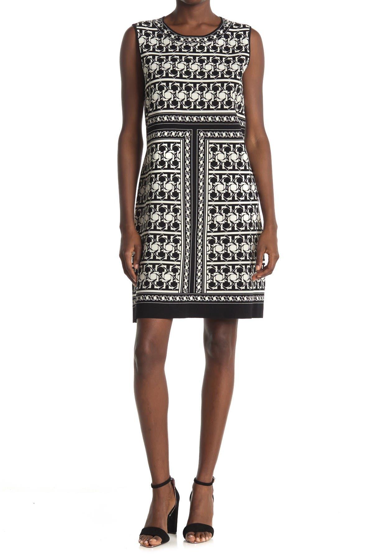 Image of Ted Baker London Jammiea Geo Print Jacquard Knit Dress