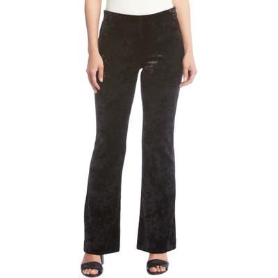 Karen Kane Avery Velvet Bootcut Pants, Black