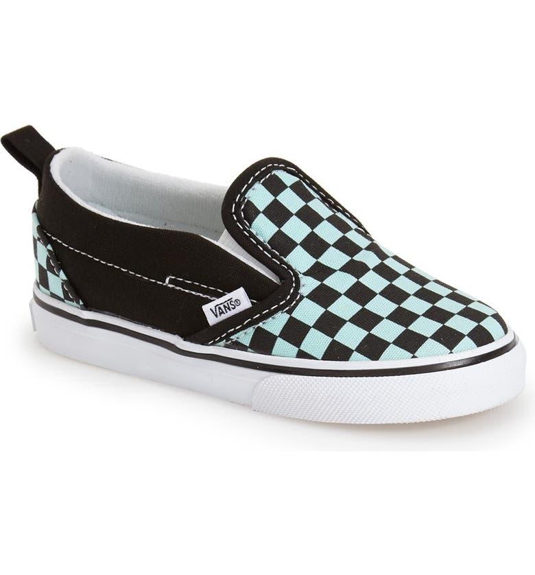 Vans 'Classic' Checkerboard Print Slip On Sneaker (Baby