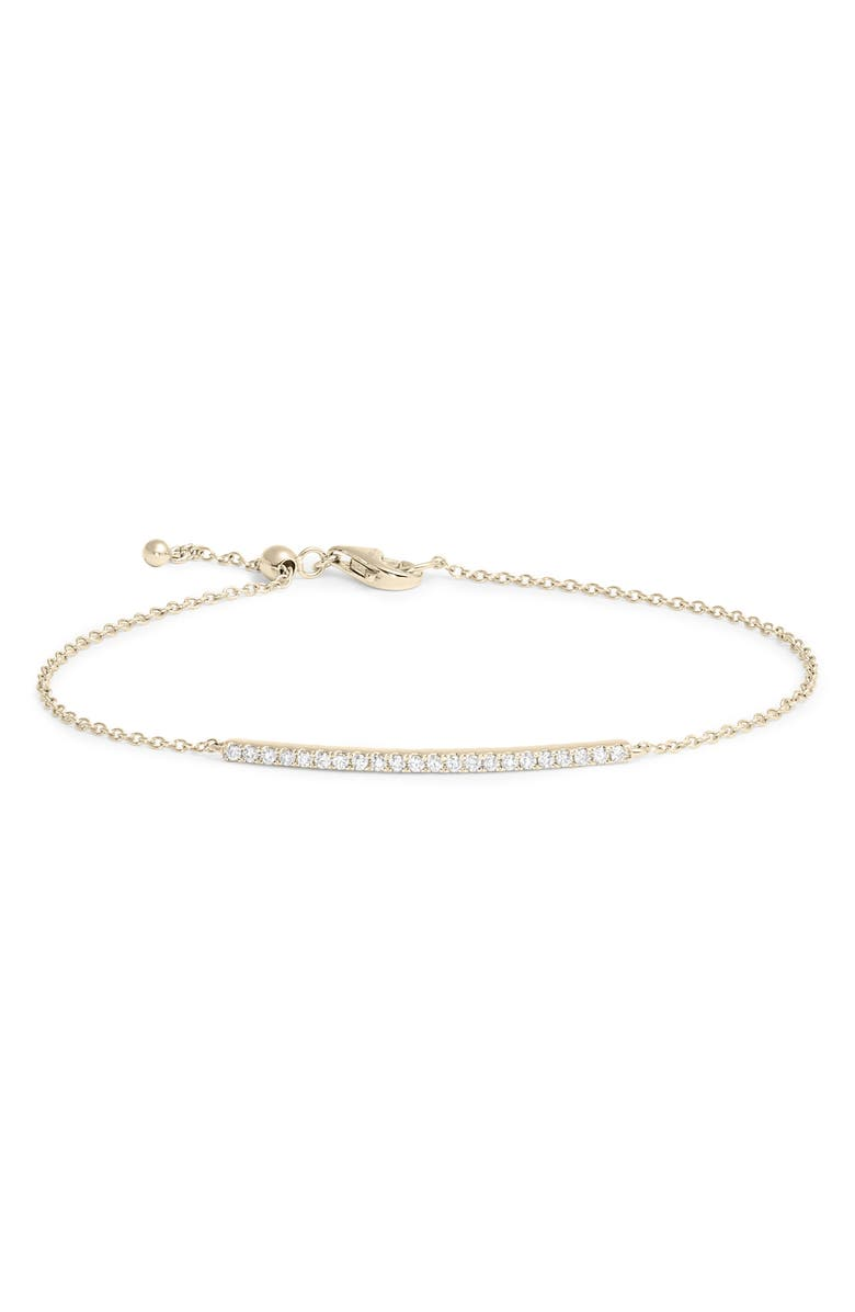 BONY LEVY Bardot Perfect Diamond Bracelet, Main, color, DIAMOND/ YELLOW GOLD