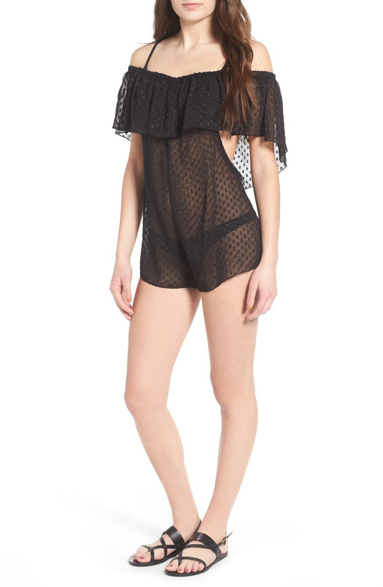 LIRA CLOTHING Marina Cover-Up Romper, Main, color, 001