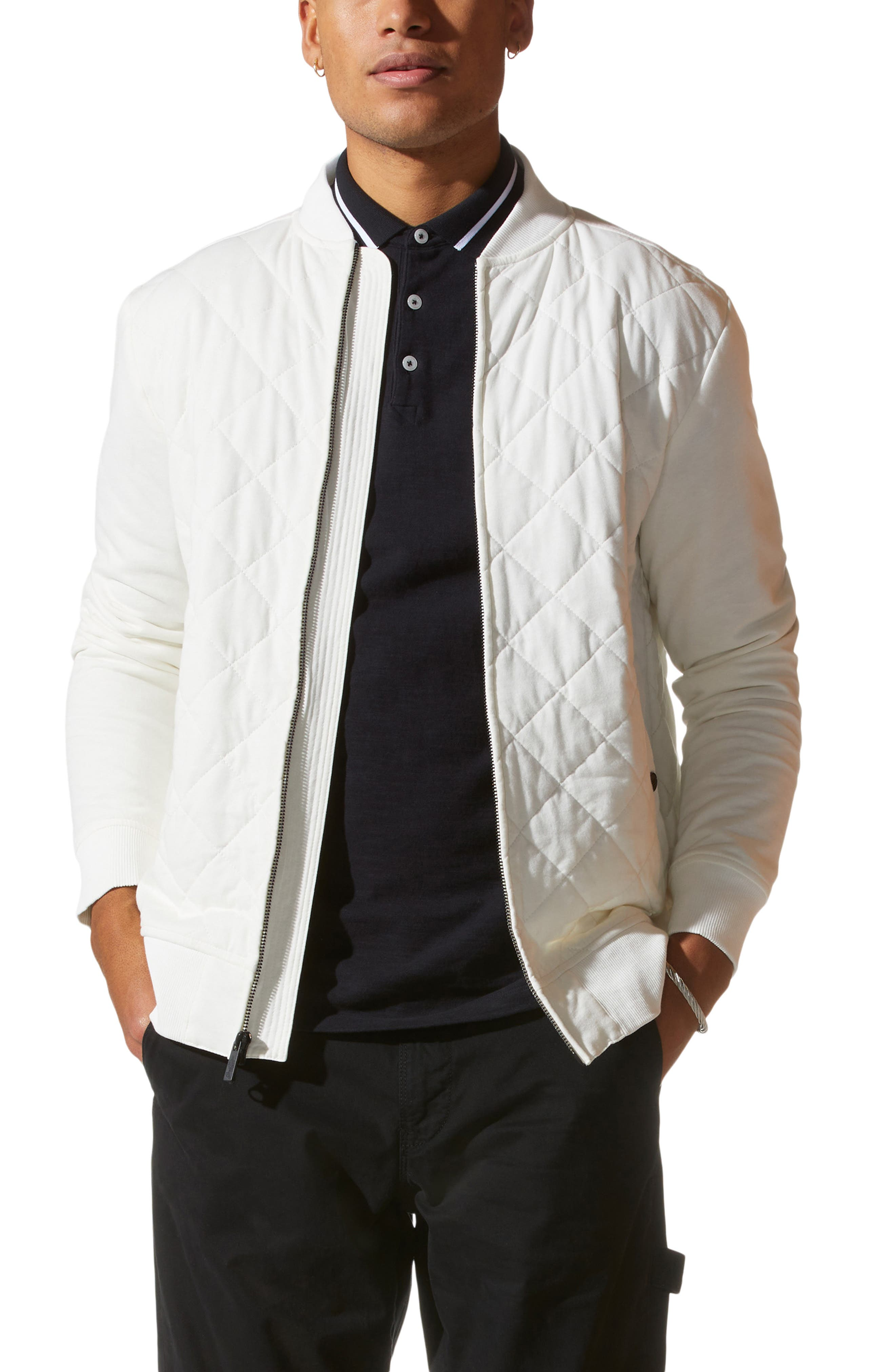 Mayhair Quilted Bomber Jacket
