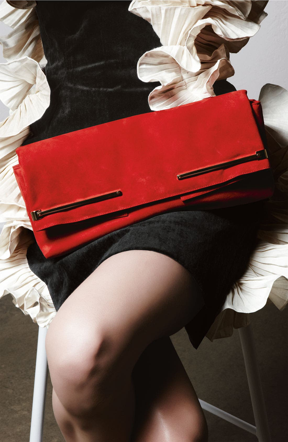 ,                             Leather Clutch,                             Alternate thumbnail 5, color,                             600