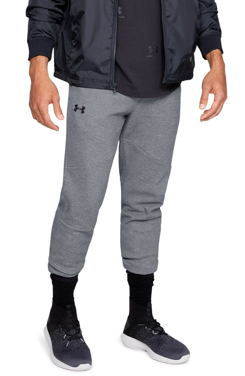 UNDER ARMOUR Unstoppable Double Knit Jogger Pants, Main, color, STEEL