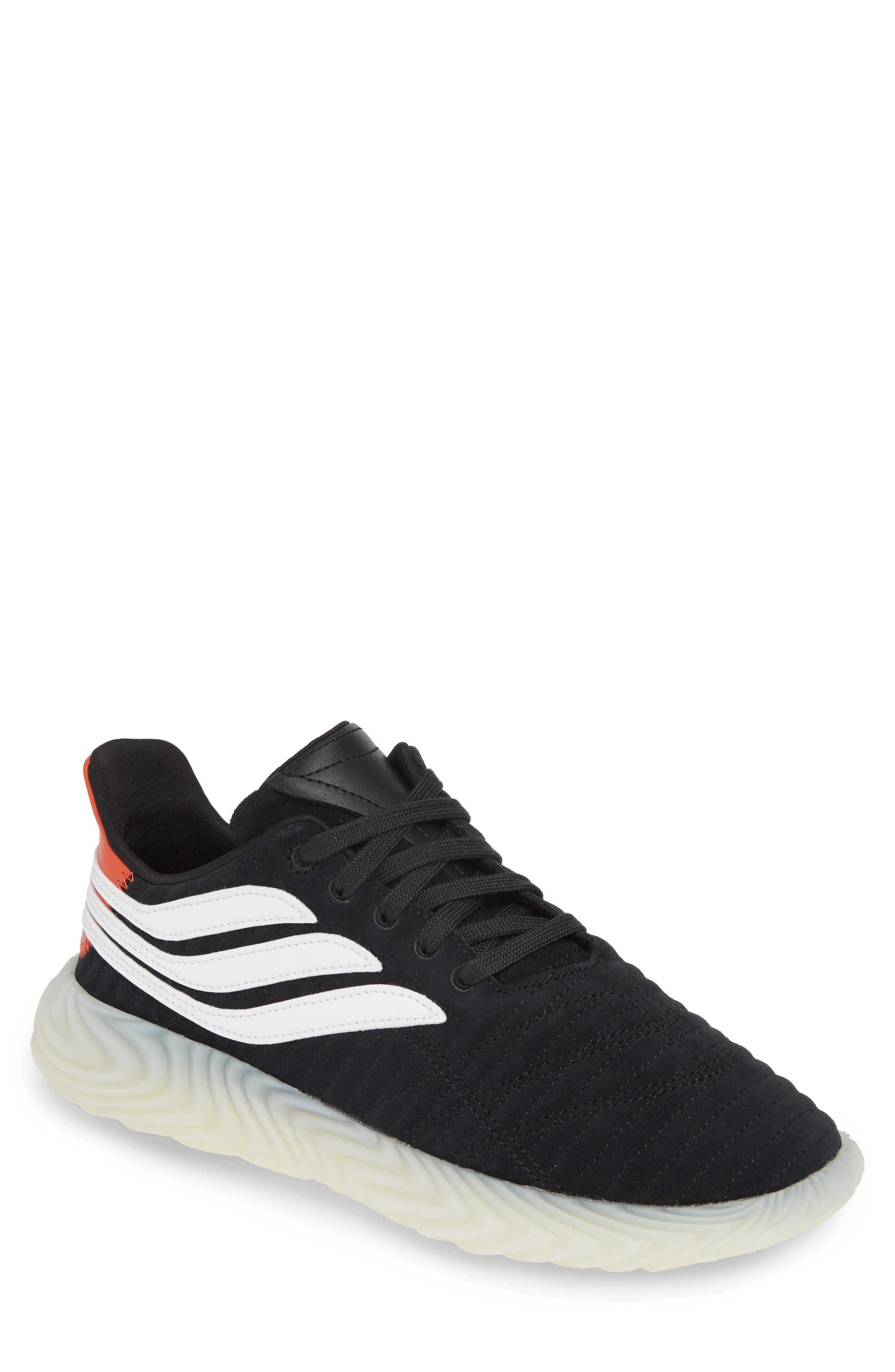 Sobakov Sneaker, Main, color, CORE BLACK/ OFF WHITE/ AMBER