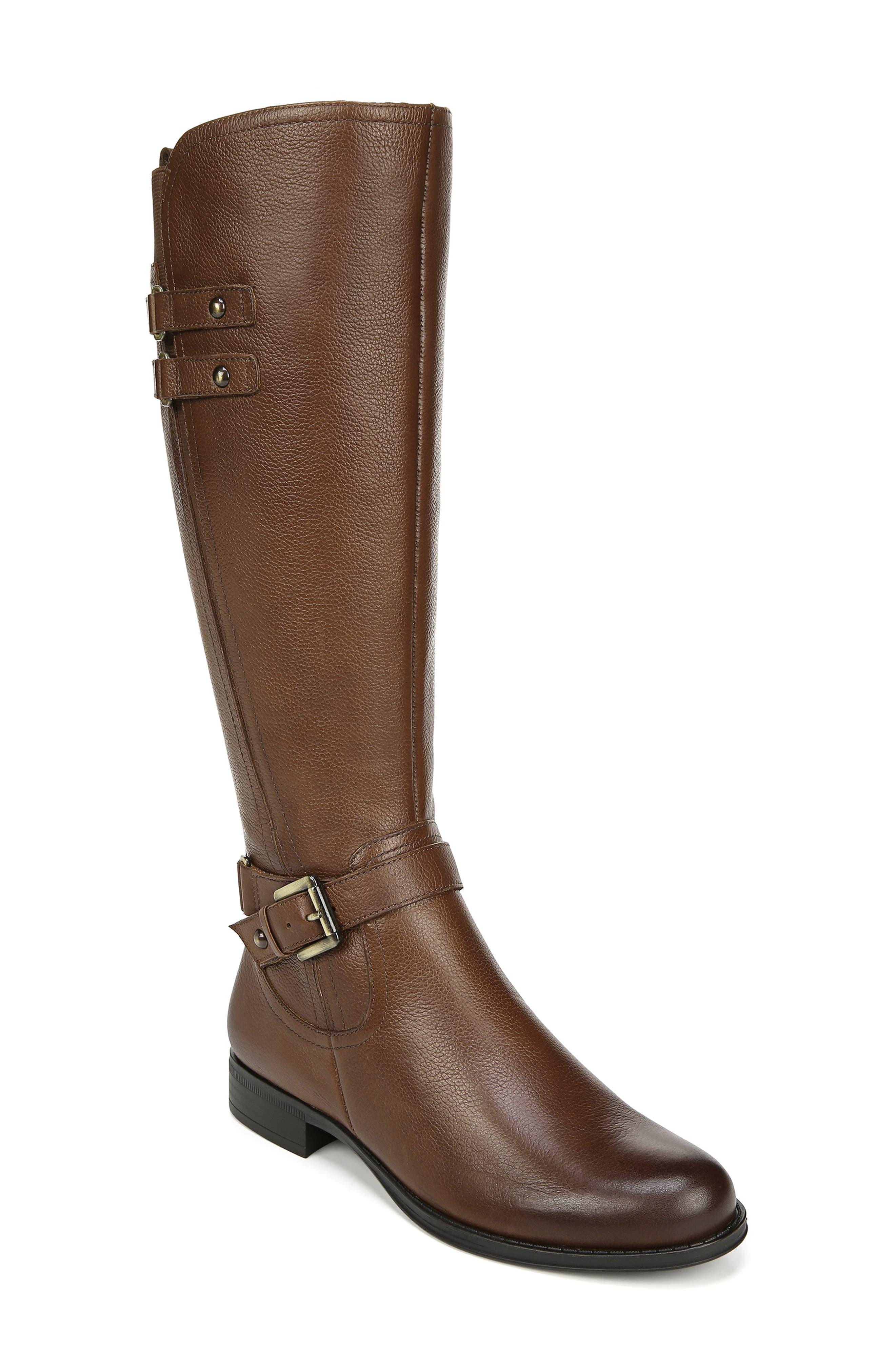Naturalizer Jackie Tall Riding Boot Regular Calf- Brown