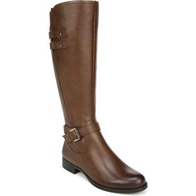 Naturalizer Jackie Tall Riding Boot Regular Calf- Brown