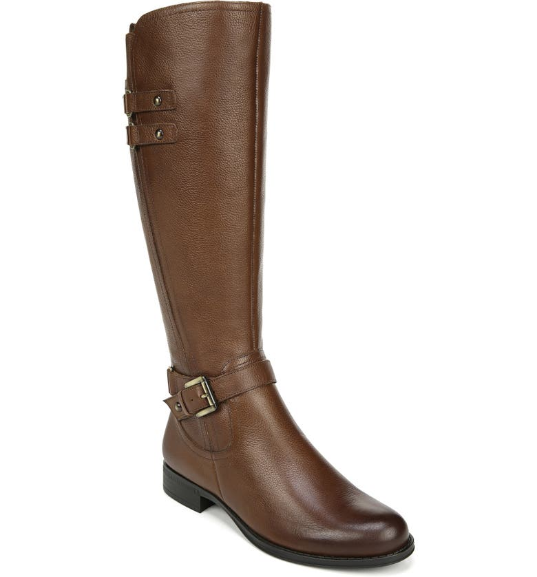 NATURALIZER Jackie Tall Riding Boot, Main, color, CINNAMON LEATHER